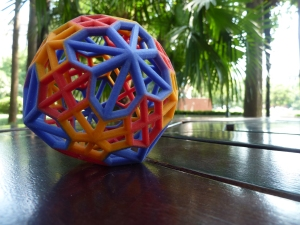 3D Print of a Polyhedron  with diameter of about 8cm